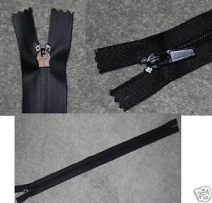 """2 zippers, black waterproof, close end 38 cm 15"""""""