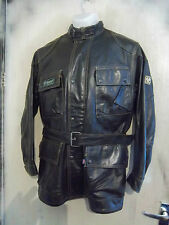 BELSTAFF LEATHER TRIALMASTER MOTORCYCLE JACKET SIZE S-M