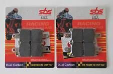 SBS 838 DC PASTIGLIE RACING Dual Carbon KAWASAKI zx-6r ANTERIORE RACING BRAKE PAD