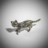 miniatura vintage -  argento 800 - gatto - Italy - 1ds
