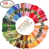 GeMoor 150 Skeins DMC Embroidery Floss - Premium Rainbow Color Cross Stitch with