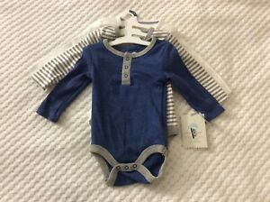 Infant Boys' 0-3 Month 3 Long Sleeve One Piece Outfit by Cloud Island-NWT!