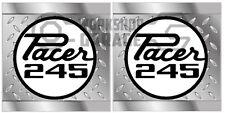 HEMI CHRYSLER VALIANT -Badge Style Stickers - Pacer 245 QUARTER checkerplate #14