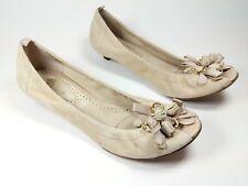 Ash beige suede leather low heel open toe shoes uk 6 eu 39