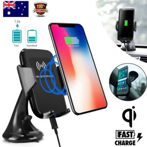 Wireless Car Charger Mount Fast Charging Phone Holder For Samsung S21 iPhone X