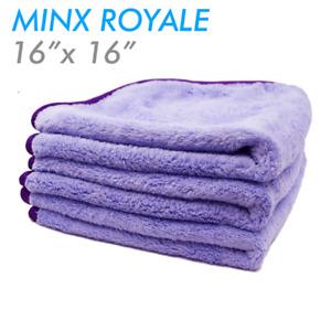 THE RAG COMPANY MINX ROYALE CORAL FLEECE 16 X 16 70/30 MICROFIBER TOWEL 3 PACK