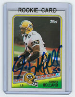 1988 PACKERS Johnny Holland signed Rookie card Topps #322 AUTO Autographed RC