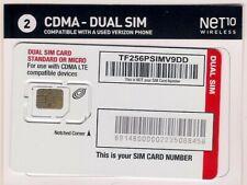 Verizon Cdma Lte Net10 Dual Sim Card New