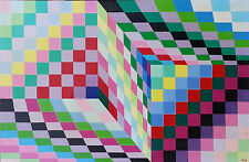 "Australian 1996 Acrilyc painting on canvas ""Maze"" by Maia Jelobinskaia 102x67 cm"
