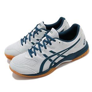 Asics Gel-Rocket 9 Grey Mako Blue Gum Men Volleyball Shoes Sneakers 1071A030-020