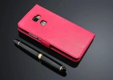 Pink Genuine Real Leather Wallet Case Cover For Huawei Mate S UK FAST FREE POST
