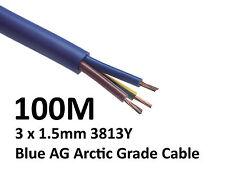 100M Arctic Blue 3183Y Flex Cable 3core x 1.5mm Outdoor Caravan Camping Artic