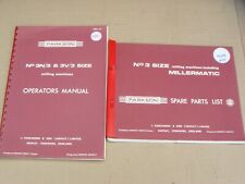 PARKSON No 3 MILLING MACHINE, OPERATOR'S MANUAL & SPARE PARTS MANUAL