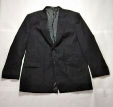 Towncraft Mens 2-button Wool Blend Formal Pin Stripe Suit Blazer Jacket Size 48