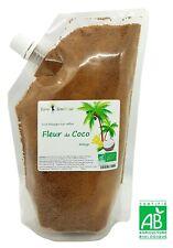 Sucre Fleur de Coco Biologique non raffiné - 400 g bio - dégustation, cuisine