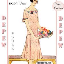 Vintage Sewing Pattern Ladies' 1920s Dress & Embroidery 3046 34 36 38 40 42 44