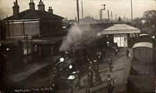 Feltham Railway Station. The 10 to 8 Train.