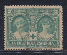 ESPAÑA (1926) USADO SPAIN - EDIFIL 332 (30 cts) CRUZ ROJA