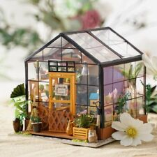 ROBOTIME Dollhouse Kit Miniature DIY Green House Kits Birthday Gifts for Women
