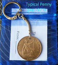 1937 Coin penny keyring 80th birthday gift bag & tag 80 years old anniversary zc