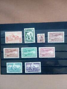SELLOS ESPAÑA  LOTE 9 SELLOS AÑOS 1930 Y 1931  MNH