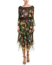 Tadashi Shoji Womens  Midi Dress, 8, Black