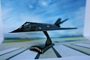 Collectors Lockheed F-117 Nighthawk Stealth Diecast Model Aircraft on Stand