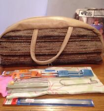 Knitting / Sewing Bag, with knitting patterns and Needles new in packet