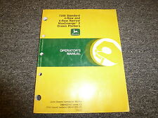 John Deere 7200 4 & 6 Row Narrow Drawn Planter Owner Operator Manual OMA52743