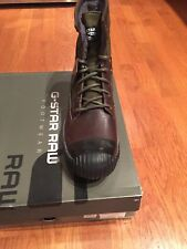 G-star Raw Sherpa Marker Mix Boots Dark Brown / Combat Size 12 US/11 UK NIB $170