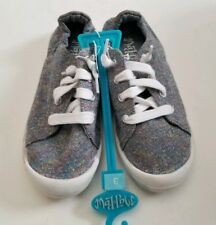 Mad Love Shana Canvas Comfort Sneakers Gray Glitter Girl Shoes Size 3 NEW!