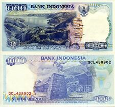 INDONESIA 1000 Rupiah Banknote World Money Currency Asia Bill p129f aUNC Note