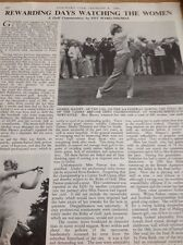 Ephemera 1981 Article Women Golf Open Debbie Massey Belle Robertson Mr1015