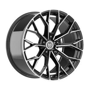 4 HP3 20 inch STAGGERED Black Rims fits CADILLAC CTS SEDAN 2008 - 2020