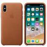 Genuine OEM Apple iPhone X/XS Leather Case Saddle Brown MQTA2ZM/A NEW