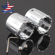 Chrome Edge Deep Cut Front Axle Nut Cover for Harley Softail Electra Glide US