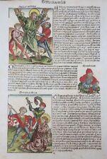INKUNABEL BLATT MARTYRIUM HEILIGE ANDREAS THOMAS IMPERATOR SCHEDEL CHRONIK 1493