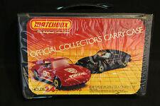 1960-70's Vintage Matchbox Car Lot 24pc In Case Hotrods Convertibles
