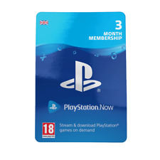 Playstation Now 3 Months Subscription Card  - UK/EU REAL CARDS