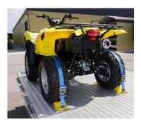 Wheel Chock Tie-Down Kit 6 ft. x 2 in. E-track ATV Mower Strap 4 Chocks 2 Straps