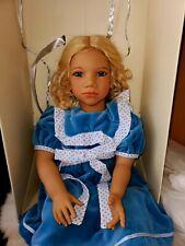 """Blonde Hair Blue Eyes Alke Himstedt Puppen Kinder 28"""" Alice in wonderland doll"""