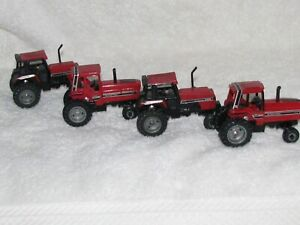 (2) 5088 AND (2) 2594 CASE FARM FIELD TRACTORS (4 TOTAL) 1/64 DIECAST ERTL