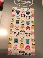 Disney Store MICKEY Emoji  Beach Towel 60 x 30 Alice Cheshire Sulley Minnie NWT