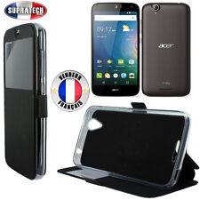 Etui Rabattable Noir Avec Ouverture Ecran pour Acer Liquid Z630