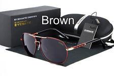 Polarized Men's Retro Luxury Aviator Outdoor Metal Sunglasses Glasses Eyewear