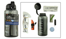 EMERGENCY DISASTER EARTHQUAKE SURVIVAL KIT IN A WATER BOTTLE - Color may vary