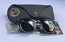 Ray Ban 3016 Clubmaster WO365A 51/21 Black  & Gold Frame 51mm(Final Sale)