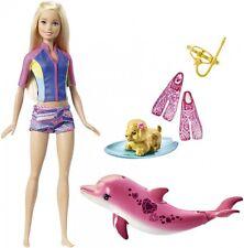 Mattel BARBIE Puppe Farbwechsel Magie der Delfine Delphin Delfingeräusche Hund