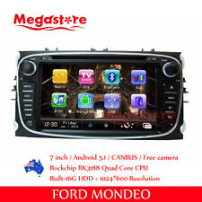 """7"""" Android Car Dvd Gps Head Uint Nav Quad Core For Ford Focus Mondeo S-Max"""