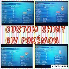 Pokemon XY/ORAS Custom Shiny 6IV Pokemon w/Item